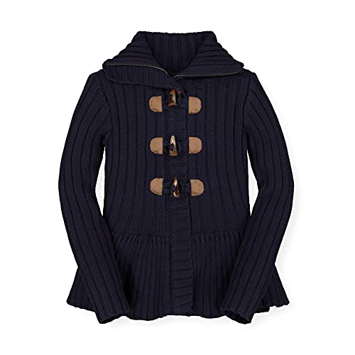 Hope & Henry Girls' Sweater Coat with Toggles