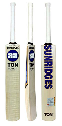 SS KW RETRO CLASSIC COTTED BAT Kashmir Willow Cricket Bat ( Size: Short Handle,Leather Ball )