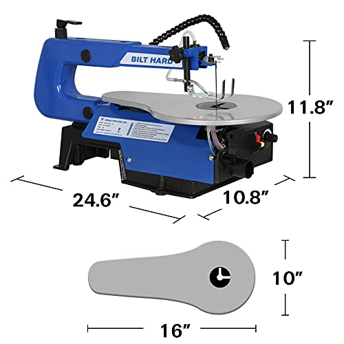 BILT HARD 16-inch Scroll Saw, Variable Speed Scroll Saw with Two-Direction Cut and LED Worklight, CSA Listed