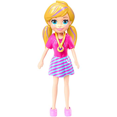 Polly Pocket Doll with Trendy Outfit 2018 Edition Measures Approx. 3.5' Tall (1 Doll)
