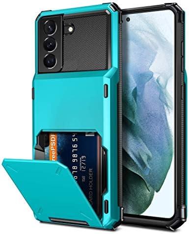 Vofolen for Galaxy S21 Wallet Case for Men Women 4 Card Flip Cover Credit Card Holder Slot Back product image