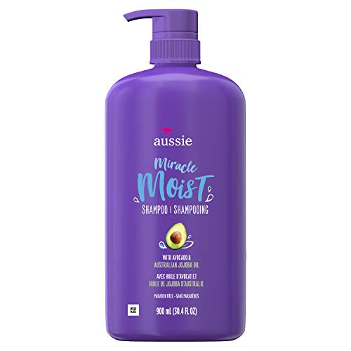 Price comparison product image Aussie Paraben-Free Miracle Moist Shampoo with Avocado & Jojoba for Dry Hair,  30.4 Fluid Ounce,  4 Count