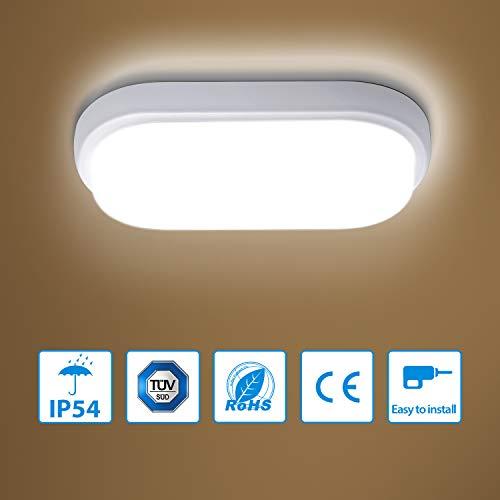 Oeegoo LED plafondverlichting 4000 K, IP44 waterdicht badlamp plafondlamp voor badkamer