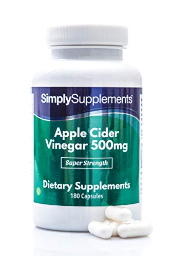 Apfelessig 500mg - Geeignet für Veganer - 180 Kapseln - SimplySupplements