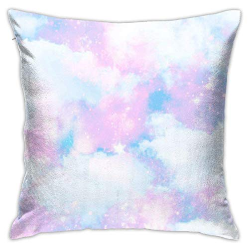 N/Q Unicorn Cloud Sky Galaxy Print Decorative Throw Pillow Cover Polyester Cushion Case for Home Sofa Bedroom Car Chair House Party Indoor Outdoor 18 X 18 Inch