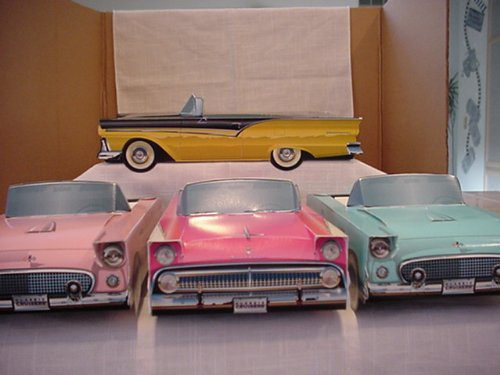 18 ~ Kids Party Food Tray Boxes Classic Cardboard Cars