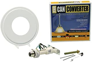 The Can Converter R1 Recessed Can Light Conversion Kit for 4-Inch, 5-Inch and 6-Inch Recessed Cans Utilizing Incandescent Bulbs, White