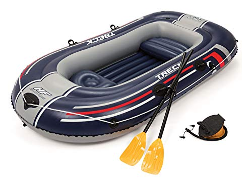 Bestway Hydro-Force Treck X2 Inflatable Dinghy Raft Boat with Oars and Pump, 2 Adult and 1 Child...