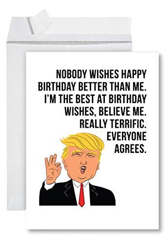 Andaz Press Lustige Jumbo-Geburtstagskarte Trump Best Birthday Wishes
