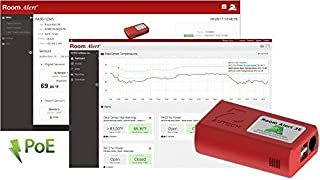Room Alert 3E Temperature & Environment Monitor – 24/7 online & software alerting and reporting to prevent downtime, Made in the USA