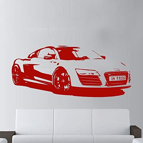 30x65 cm Wandkunst, Mode Große Auto R8 Coupe Sport Rennwagen Papier Aufkleber Für Geschenk Poster Living Print Aufkleber Kindergarten Schlafzimmer Kunst Bild Tapete Hängen