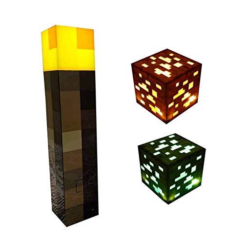 GAMINS Lámpara De Pared De Iluminación, Mineral De Piedra, Diamante Cúbico, Regalo De Juguete para Niños De Iluminación De Pared, Juego De 3