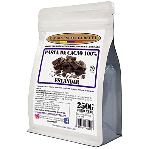 Cacao Venezuela Delta - Chocolate Negro Puro 100{740115ca2aba16e76e3abe95ecc5f6ae4edfe9f9e488707ea44c60480663364a} · Tipo Estándar (Pasta, Masa, Licor De Cacao 100{740115ca2aba16e76e3abe95ecc5f6ae4edfe9f9e488707ea44c60480663364a}) · 250g