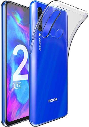 Captor Cover Trasparente per Honor 20 Lite/Huawei P Smart Plus 2019, Custodia TPU in Silicone Flessibile Morbida e Sottile, Protezione Full Body con Bordo Rialzato per Schermo e Fotocamera