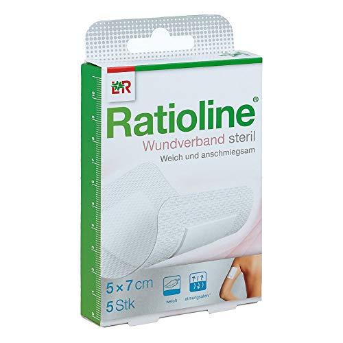 RATIOLINE Wundverband 7x5 cm steril 5 St