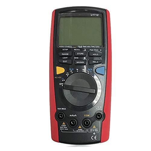LIRRUI UT71A / UT71B / UT71C / UT71D / UT71E Medidores Digitales Inteligentes de tamaño Medio Multímetro Digital Comunicación USB Bluetooth (Color : Rojo, Size : UT71C)