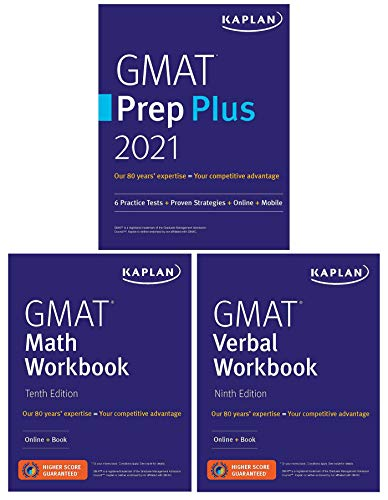 GMAT Complete 2021: 3-Book Set: 6 Practice Tests + Proven Strategies + Online (Kaplan Test Prep)
