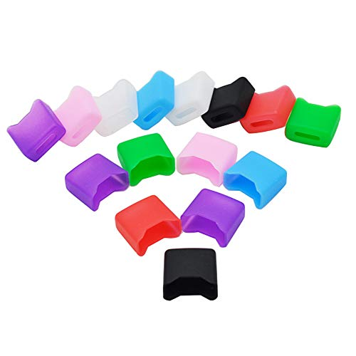 15PCS Silicone Juul Mouthpiece Pod Drip Tip Filter Dust Cover, Random Color, Best for Juul Device