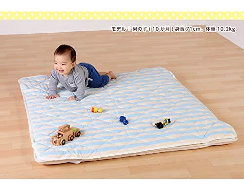 ワールドアライブ『6歳までの寝具図鑑こどものふとんキルトパッド正方形タイプ』