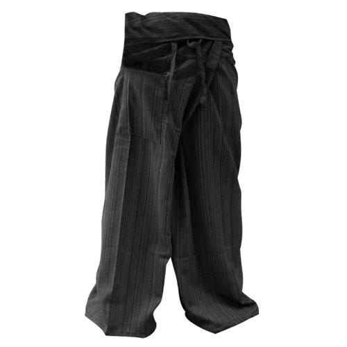 Thai Fisherman Pants Yoga Pantalon taille libre Plus taille coton