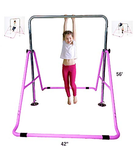 GymPros Kids Jungle Gymnastics Monkey Bars Gymnasts Expandable Junior Training Bar Indoor Foldable Climbing Tower Playground