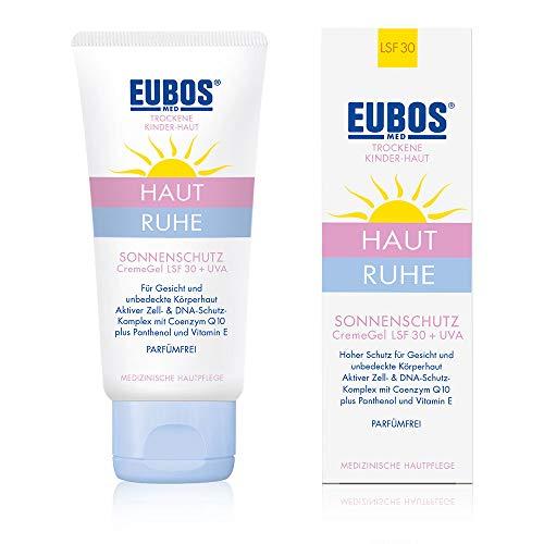 Eubos | HAUT RUHE Sonnenschutz CremeGel LSF 30 + UVA | 50ml | für empfindliche und trockene Kinder- und Babyhaut | Für empfindliche Kinderhaut