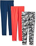 Amazon Essentials   Girls' 3-Pack Legging, Camo/Pink/Blue XS