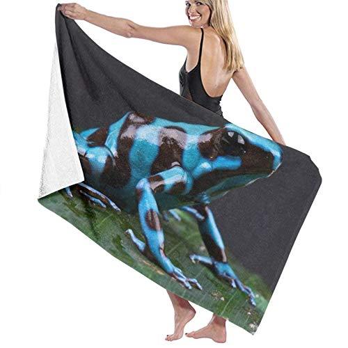 Toallas de baño Grandes,Dardo Rana Azul,Toallas de Playa suavidad Toallas de multipropósito,80 x 130cm