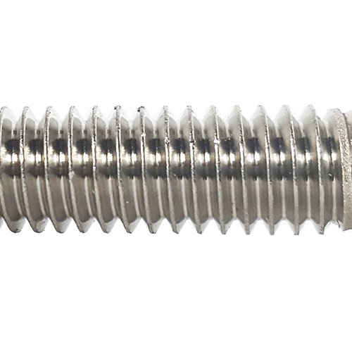 """5/16-18 x 1-1/4"""" Hex Head Cap Screw Bolts, External Hex Drive, Stainless Steel 18-8, Full Thread, Bright Finish, Flat Point, Quantity 25 by Fastenere"""