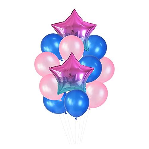 Globo 12 unids/Set 18in '' Gradient Star Foil Ballon 12in '' Latex Ballons Penta Helium Globos Fiesta Boda Decoraciones de cumpleaños Globos de cumpleaños (Color : T03)
