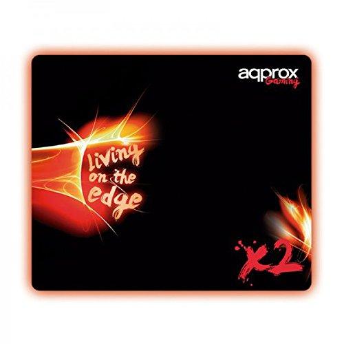 Approx Gaming APPX2 - Alfombrilla Gaming (320x270x3 mm) Color Negro y Rojo