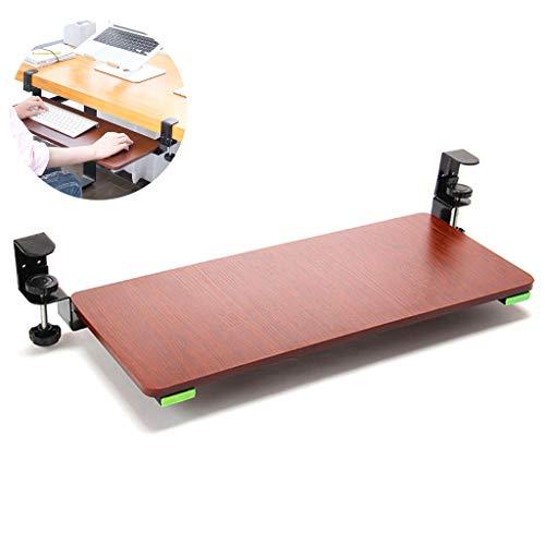 LTLJX Ergonomie Tastaturauszug Tastaturhalterung Schreibtisch Ausziehbare Tastaturablage Untertischmontage Tastaturschublade und Maus Halterung für Keyboard Clip-on Punch-frei Trägerplatte 60 * 25cm