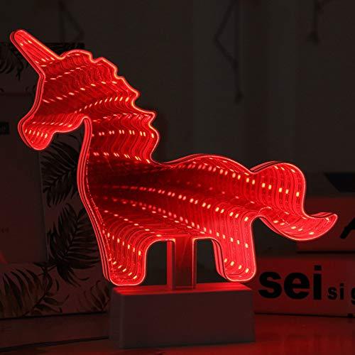 YLSMN LED mit Basisbatterie Meerjungfrau Liebe Tunnel Licht Einstelllampe nachttischlampe dimmbar wärmestrahler baby