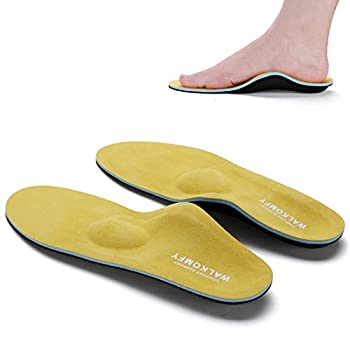 Walkomfy Full Length Orthotic Inserts Arch Support Insole Insert for Flat Feet,Plantar Fasciitis,Feet Pain,Insoles for Men & Women  Mens 13-13 1/2 | Womens 15-15 1/2
