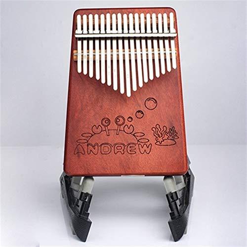 Kalimba, Daumenklavier 17 Keys Kalimba Mahagoni Daumenklavier Tiermuster Körpermusikinstrumente Kalimba mit Lernbuch Weihnachtsgeschenk for Kinder (Color : Crab)