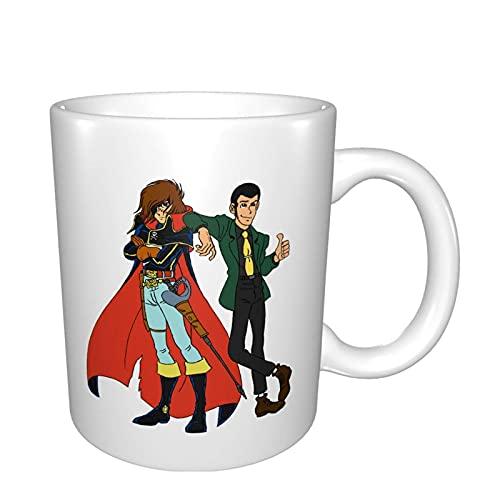 Lupin Iii Meet Capitan Harlock Tazas Taza de café de oficina en casa adecuada para cereales de té y cacao