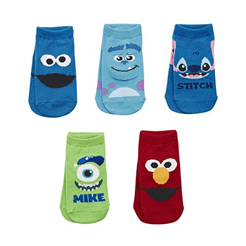 Sockstheway Kids Girls Boys Super Hero Justice League Cartoon Marvel Avengers Ankle Cotton Socks Baby Toddler Child 5 Pairs, Ages 2-3