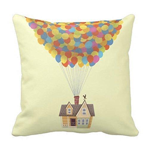 About Balloon House from The Disney Pixar Up Movie Pillow Case Fundas para Almohada 20x20Inch(50cmx50cm)