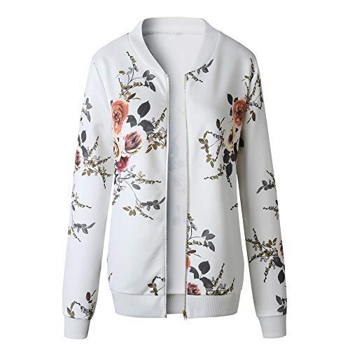 TOPKEAL Dick Jacke Warm Reißverschluss Oben Mantel Damen Herbst Winter Sweatshirt Hoodie Beiläufig Pullover Outwear Coats Mode Tops (X-Large,Weiß)