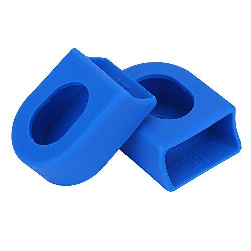 2Pcs Fundas de Bielas Manivela para Bicicleta Protectores Bielas 5 Colores ( Color : Azul )