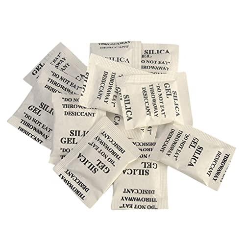 GSDGV, 200 sacchetti disseccanti in gel di silice, umidificatori multiuso per camicie e maglioni in cashmere (bianco, dimensioni: 3 x 4 cm)