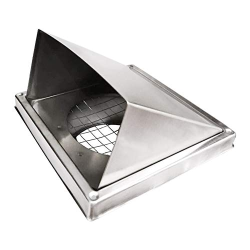 Best Prices! LTLSF Wall-Mountable 304 Stainless Steel Square Vent with Louvres Vent Cowl Extractor W...