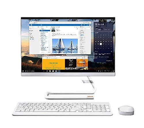 Lenovo IdeaCentre AIO 3 Ordinateur de Bureau, 21.5  FHD, processeur AMD Athlon Silver 3050U, RAM 4 Go AMD Radeon Graphics, Windows 10, Souris + Clavier QWERTY Portugais sans Fil, Blanc