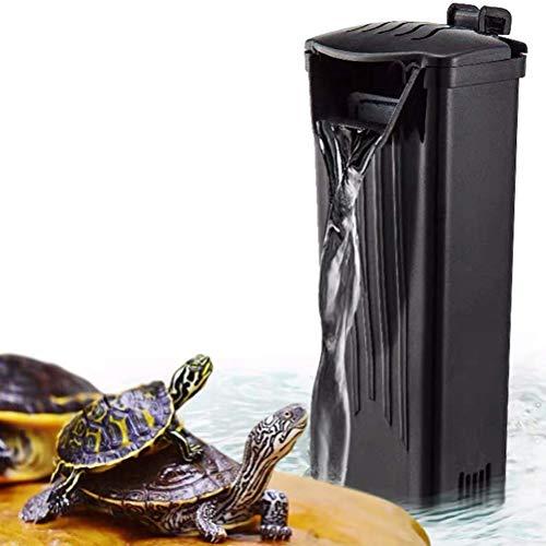 XEOGUIYA 3.5W 280 L/H Turtle Fish Tank Filter, Low Level Waterfall Filter for Aquariums Fish Tank Turtle, 74 GPH
