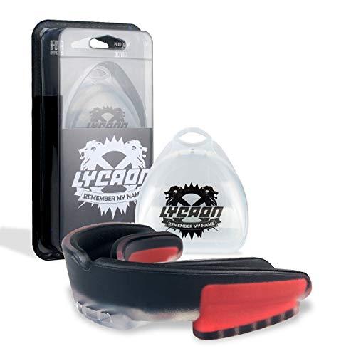 LYCAON Mundschutz Boxen Erwachsene Herren Kickboxen Schienbeinschützer Venum American Football Kampfsport Muay Thai Box Sport Mundschutz Zahnschutz-(Größen können auf Ihre Zähne zugeschnitten Werden)