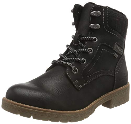 Tom Tailor Womens 9092004 Mid Calf Boot Bootie Boot, Black, 41 EU (7.5 UK)