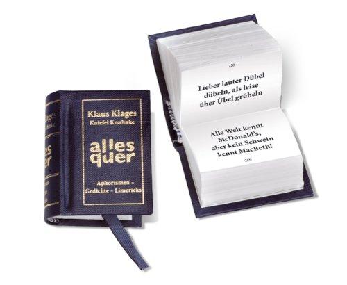 """Minibuch """"Alles Quer"""": Klaus Klages gestammelte Werke"""