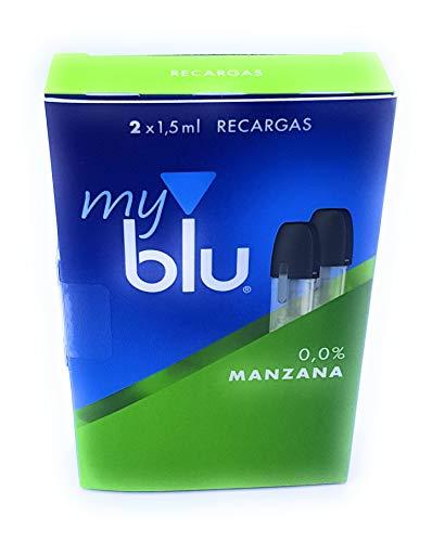 2 Recargas MyBlu MANZANA 0,0% nicotina - SIN NICOTINA