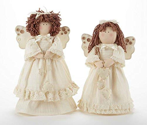 Delton Products 18 Inches Cream Angel Stump with Stars Collectible Dolls