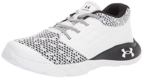 Under Armour Men's Pre-School Vantage Knit Running Shoe, White (101)/White, 11